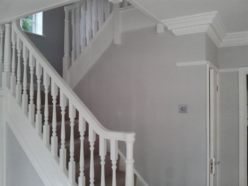 Painting and decorating pinner middlesex painter decorator - How to wallpaper stairs and landing ...